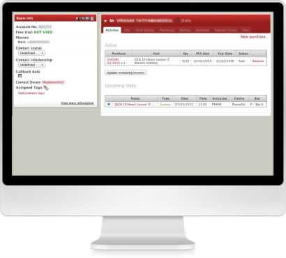 Automation Feature of golf-center booking system built by Safecoms